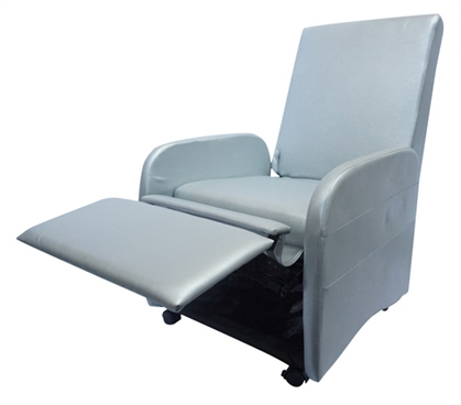 The College Recliner (Folds Compact) - Silver Dorm Chair Dorm Furniture