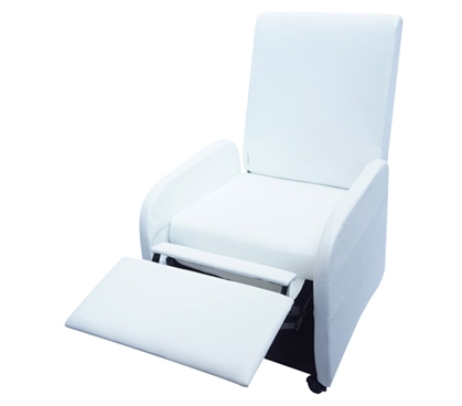 The College Recliner (Folds Compact)  - White Dorm Essentials Dorm Chair