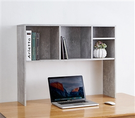 The College Cube - Dorm Desk Bookshelf - Marble Gray
