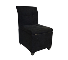 The Original Ottoman Chair (2 in 1 Storage Seat) - Black