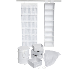 Keep Closet Organized - Ultra Closet Complete Set - White - Essential For College Dorm
