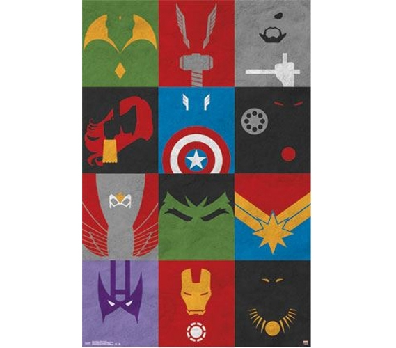 Avengers Minimalist Grid Poster Shop For College Posters