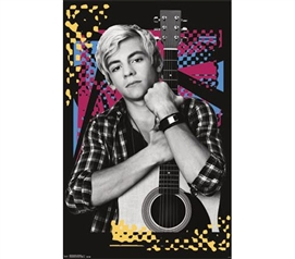 Shop For College Students - Austin and Ally - Austin Guitar Poster - College Wall Decor