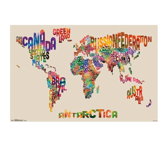 World Map Color Poster Shopping For College Buy Cool Dorm Stuff Posters For Dorms