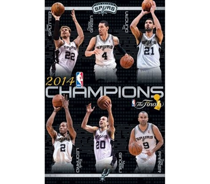 2014 NBA Finals - Champs - Spurs Poster - Decorate Your Dorm