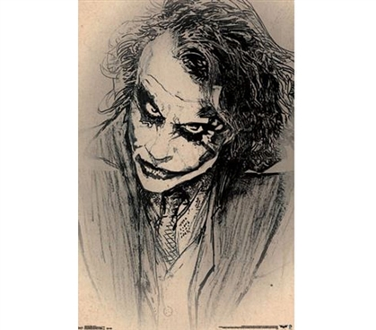 Buy Items For College - Dark Knight - Sketch Poster - Decorate Your Dorm