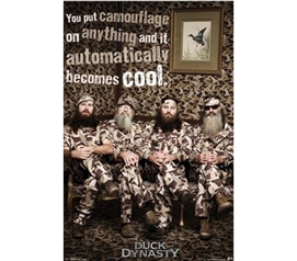 Must-Haves For Dorms - Duck Dynasty - Camo Poster - Posters For College Students