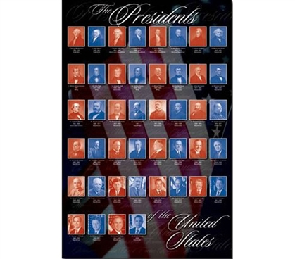 Presidents United States Of America Poster Decorate Your