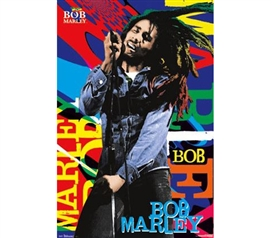 Decor For Dorms - Bob Marley Name Color Poster - Cheap Dorm Items