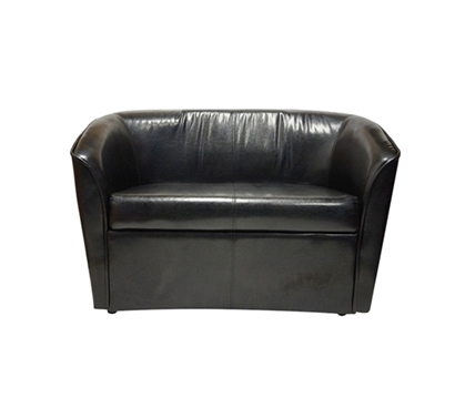 The Two Seater Dorm Sofa Black