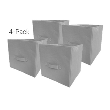 TUSK Fold Up Cube 4-Pack - Gray Dorm Storage Solutions Dorm Essentials