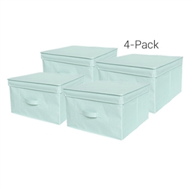 TUSK Jumbo Storage Box 4-Pack - Calm Mint Dorm Essentials Dorm Storage Solutions