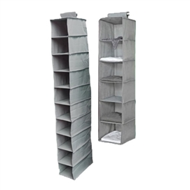 TUSK 2-Piece College Closet Set - Gray Dorm Essentials Dorm Storage Solutions