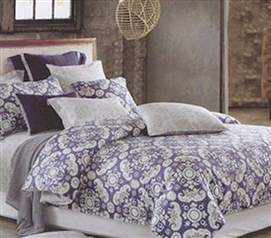 Ella Purple Twin XL Comforter