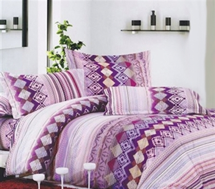 Dorm Bedding for Girls Owlette Purple TXL Comforter for College Extra Long Twin Comforter