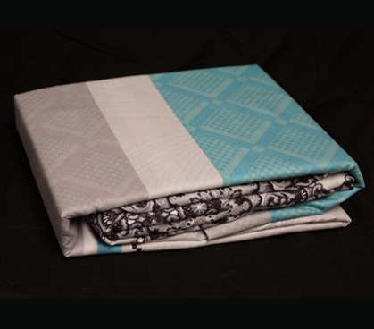 Maldives Twin XL Sheet Set - College Ave Designer Series Dorm Essentials Dorm Bedding for Girls