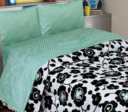 Paris Pool Twin XL Comforter Set - 4 Piece Set Twin XL Dorm Bedding Set Dorm Essentials
