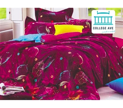 Dorm Bedding for Girls Torrid Leaves Twin XL Designer Comforter Set College Dorm Rooms