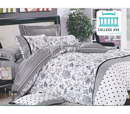 Aureate Twin XL Comforter Set - College Ave Designer Series Girls Dorm Bedding College Bedding Set