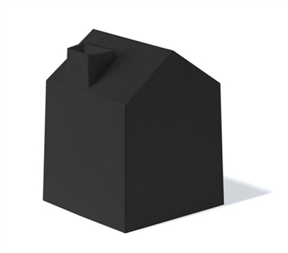 Tissue Box House - Black