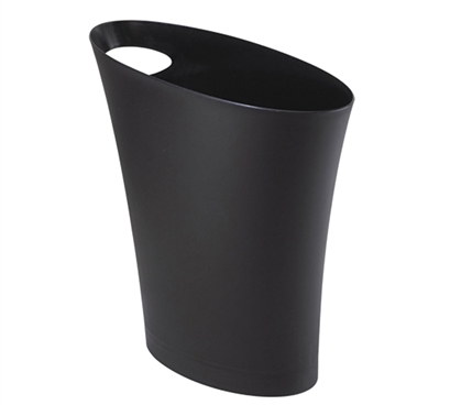 Skinny Trash Can - Black