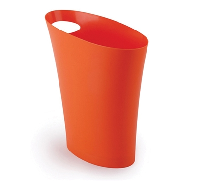 Skinny Trash Can - Orange