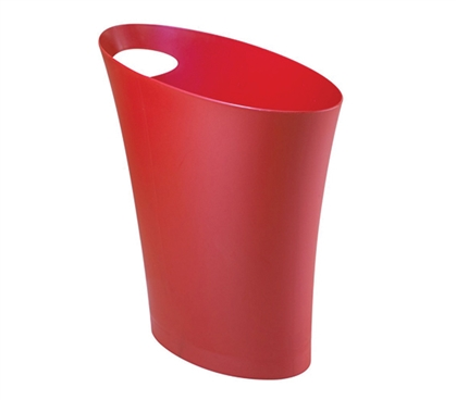 Skinny Trash Can - Red