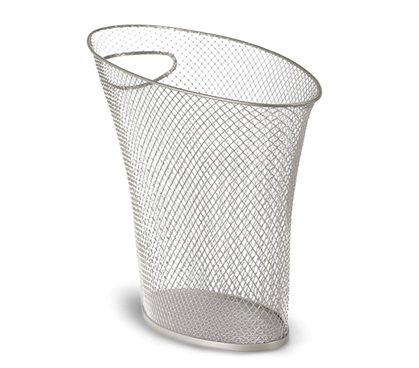 Skinny Trash Can - Mesh Nickel