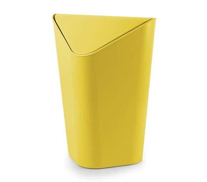 Corner Trash Can - Yellow