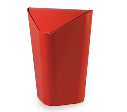 Corner Trash Can - Red