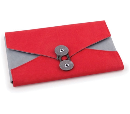 Envelope Jewelry and Cosmetic Dorm Organizer - Red