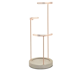 3 Tier Copper Jewelry Stand