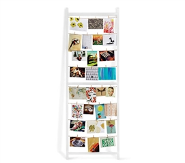 Standing Clothesline Photo Display - White