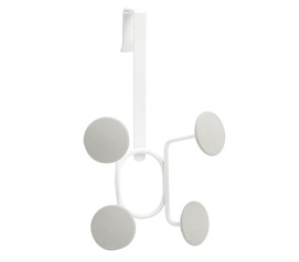 Circle Hook Over The Door Organizer - White