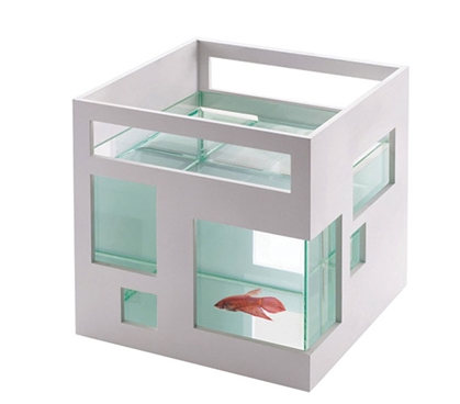 Fish Hotel Fish Bowl - White Dorm Pet Possibilities