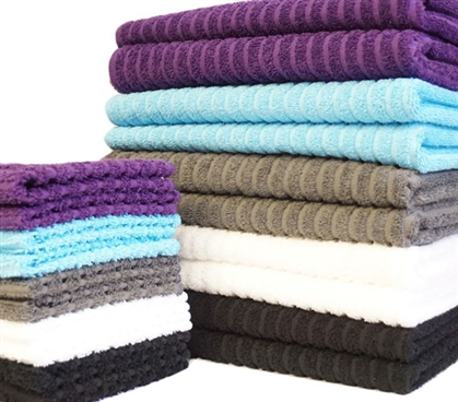 Super-Dry USA Cotton Bath Towel (2-Pack) and Washcloth (2-Pack) Dorm Essentials Must Have Dorm Items