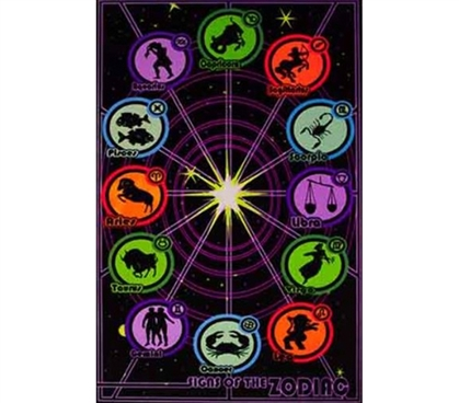 Cheap Supplies For College - Zodiac Signs Blacklight Poster - Fun Dorm Stuff