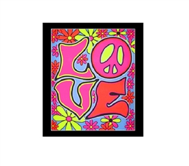 Love Blacklight Wall Tapestry College Tapestry Dorm Room Decorations Dorm Room Decor