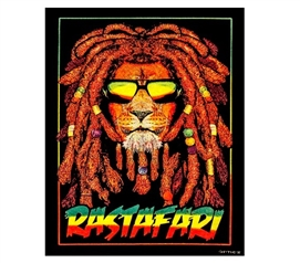 Rastafari Blacklight Wall Tapestry Dorm Tapestry Dorm Room Decor