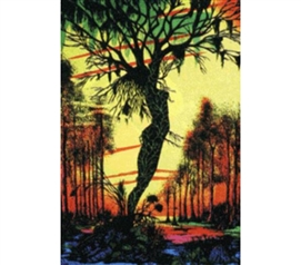 Best Supplies For College - Mirage Swamp Blacklight Poster - College Decorations