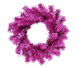 "Holiday Dorm Room Decorations 6"" Hot Pink Mini Wreath"