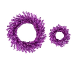 "10""/18"" Purple Wreath Set Holiday Dorm Room Decorations"
