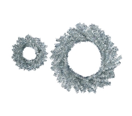 "Holiday Dorm Room Decorations 10""/18"" Silver Wreath Set Dorm Room Decor"