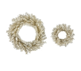 "Holiday Dorm Room Decorations 10""/18"" Champagne Wreath Set"