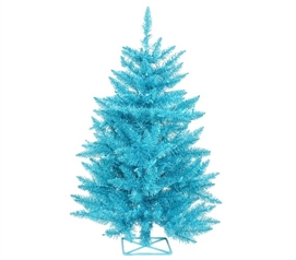 "Holiday Dorm Room Decorations 2'x23"" Sky Blue Tree with Mini Lights"
