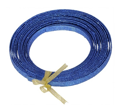 Dorm Essentials 23' Blue Glitter Ribbon