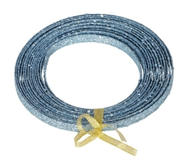 Holiday Dorm Room Decorations 23' Baby Blue Glitter Ribbon Must Have Dorm Items
