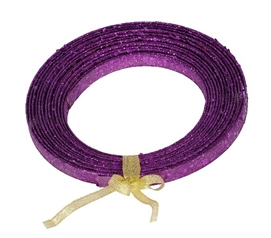 Holiday Dorm Room Decorations 23' Purple Glitter Ribbon
