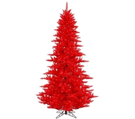 "Holiday Dorm Room Decorations 3'x25"" Red Fir Tree with Mini Lights"