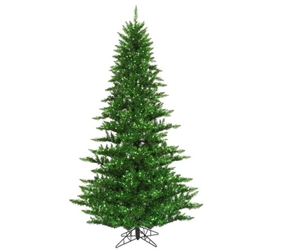 "Holiday Dorm Room Decorations 3'x25"" Tinsel Green Fir Tree with Mini Lights"